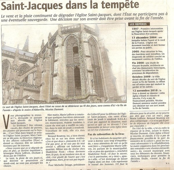 article courrier picard du 13 novembre 2010