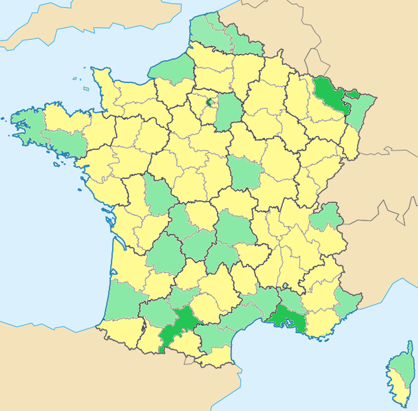 carte France departement-vierge-vide