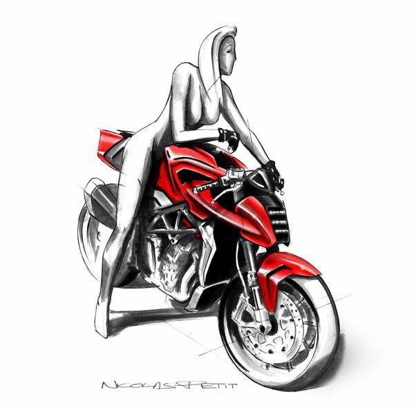 mv agusta girl sketch