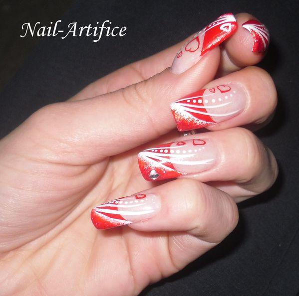 nail art st valentin sp ciale nail artifice. Black Bedroom Furniture Sets. Home Design Ideas
