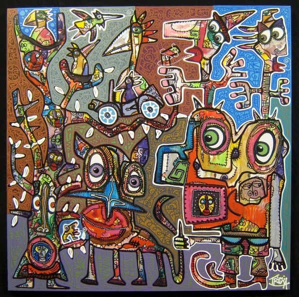 AYACUCHO-Toile-collages-120X120-janvier-2013-JPG