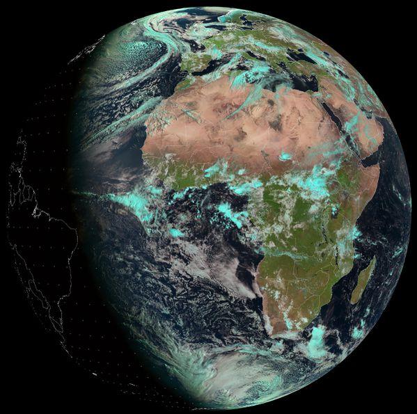 Meteosat 10 - Jour de la Terre - 22-04-2014 - 8h00