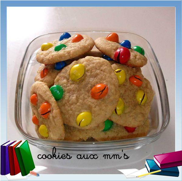 cookies aux mm's