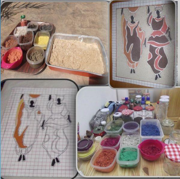 Ordinary peinture avec du sable 4 une sensation de for Peinture avec du sable