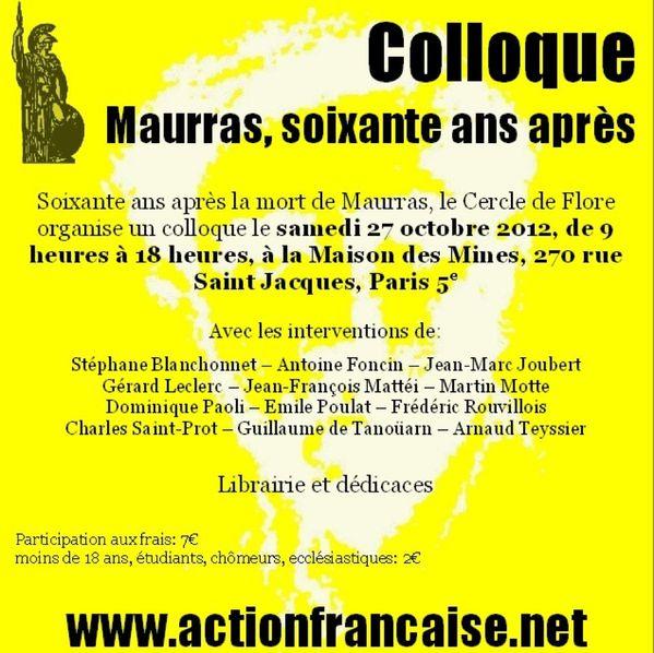 colloque Maurras
