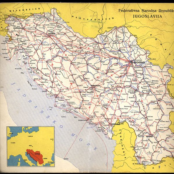 1961 Carte Yougoslavie 04
