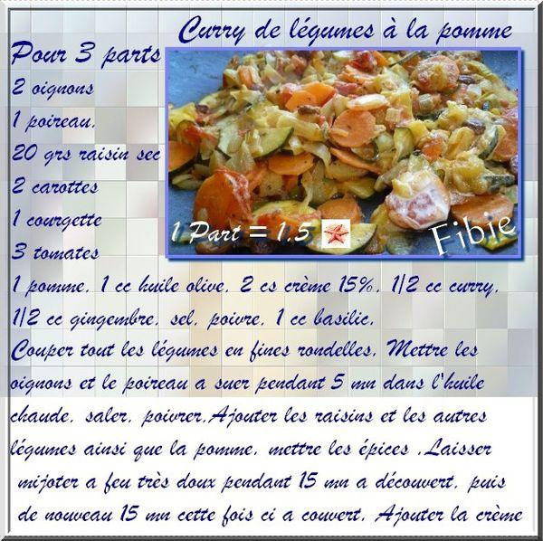 Curry de légumes à alpomme
