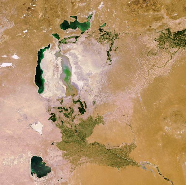 Envisat - MERIS - Mer d'aral - 24-06-2010 - 06h25 - RR2