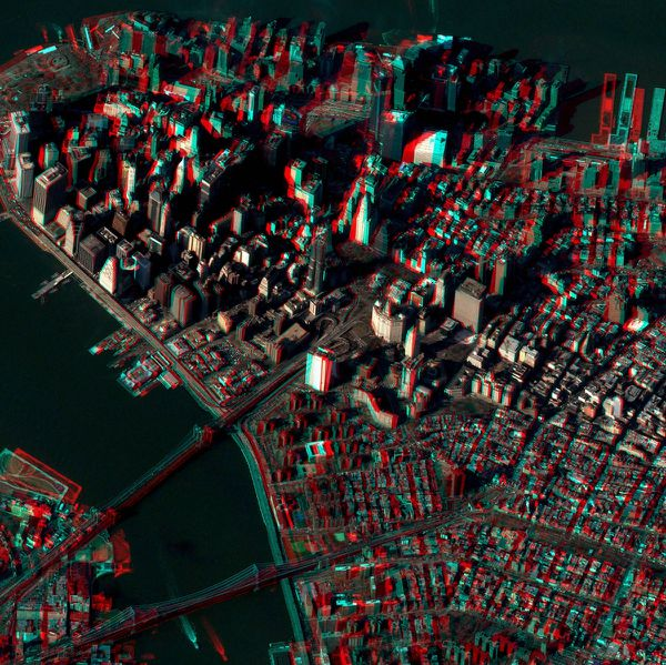 New York - Manhattan - Sud - Pléiades - 3D - CNES