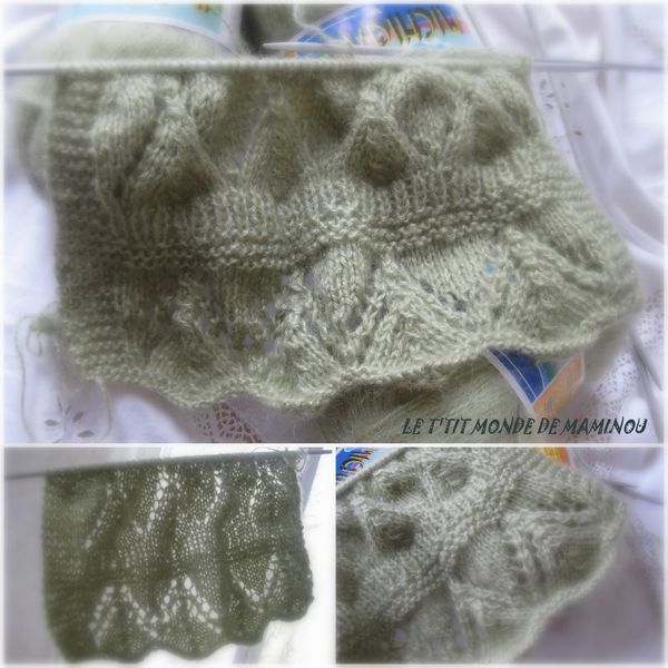 tricot echarpe ajouree 1