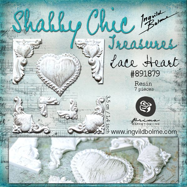 lace heart - 1000 - shabby chic treasures - ingvild bolme -