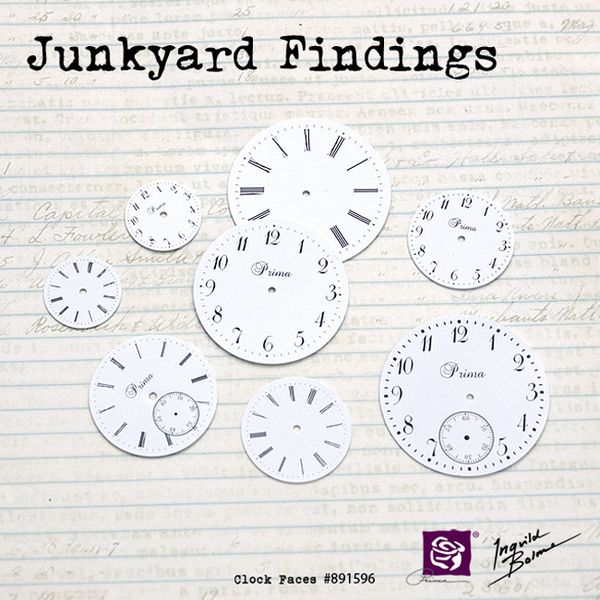 junkyard findings - clock faces - 891596 - 650 pix - prima