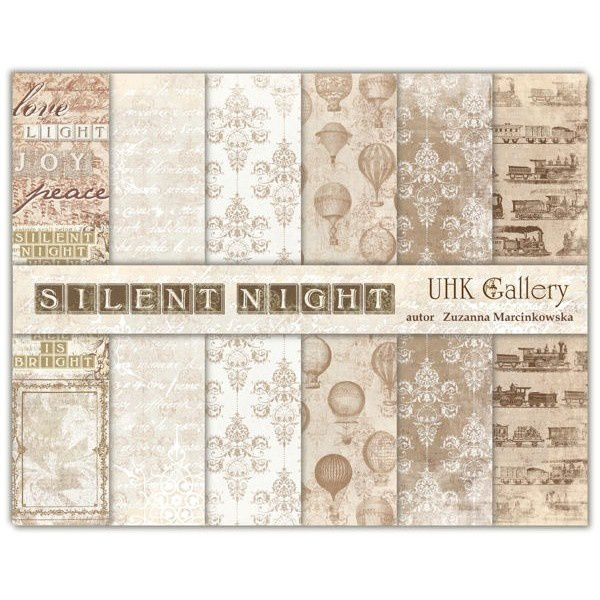 set-de-6-papiers-collection-silent-night