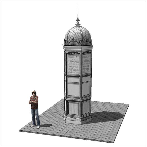 comment dessiner un kiosque
