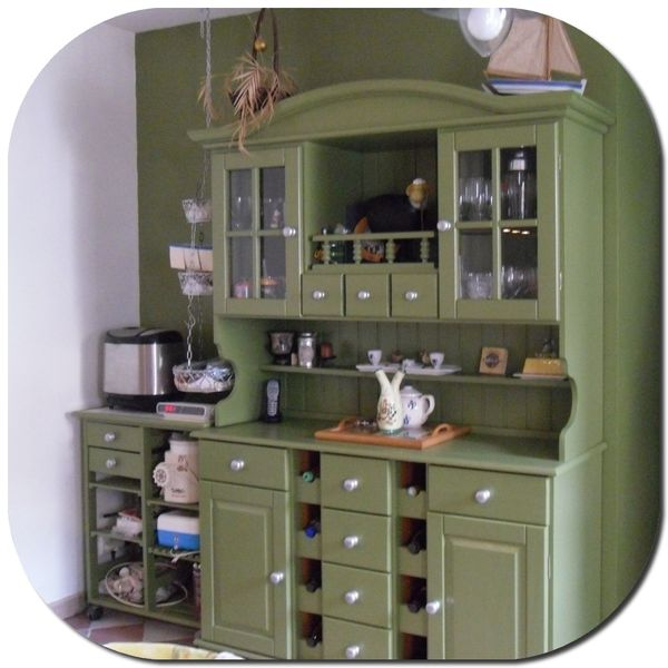 cuisine mur vert olive divers besoins de cuisine. Black Bedroom Furniture Sets. Home Design Ideas