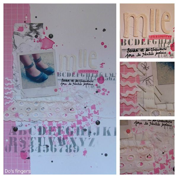 Mlle chaussures Collage