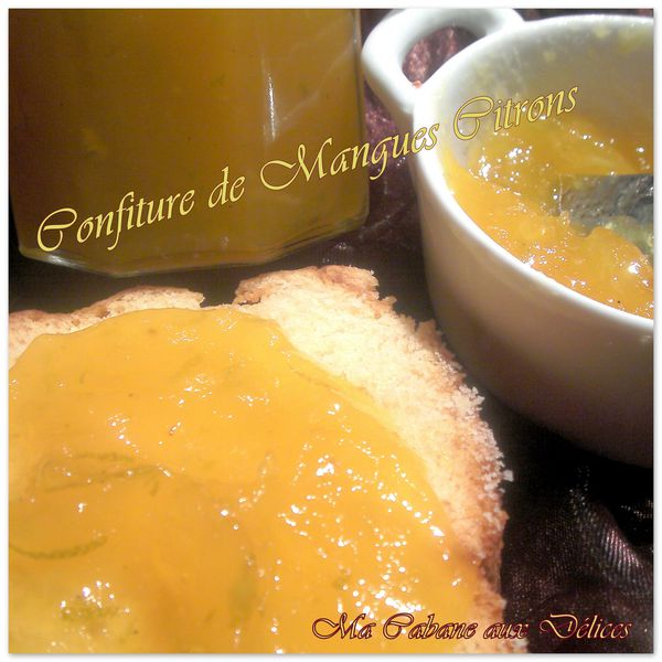 Confiture de mangues citrons photo 2