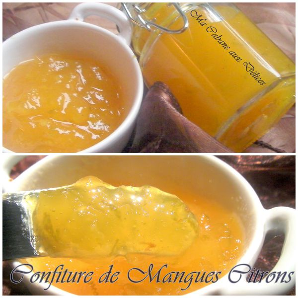 Confiture de mangues citrons photo 3