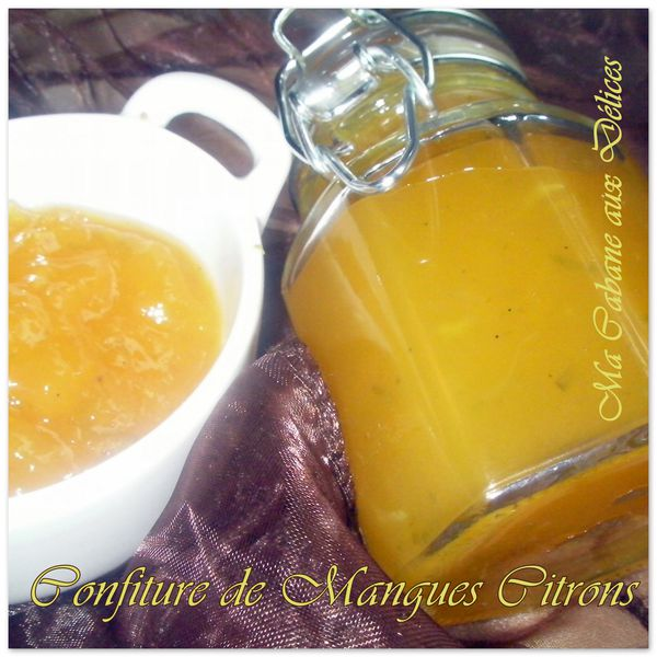 Confiture de mangues citrons photo 4