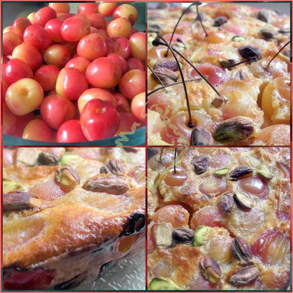Clafoutis cerises pistaches photo 1