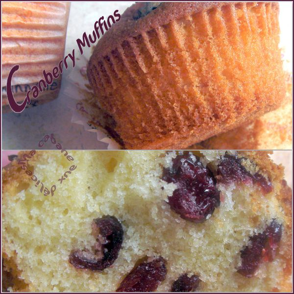 Cranberry muffins montage 1