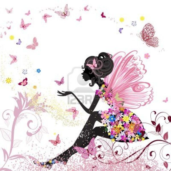 13572553-fee-fleur-dans-l-39-environnement-de-papillons