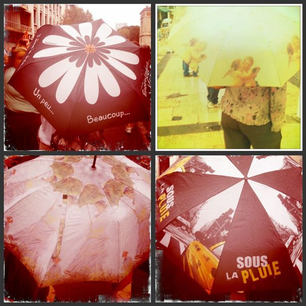 Parapluie collage