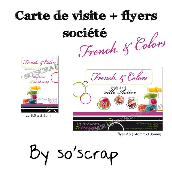 cv + flyers french and colors