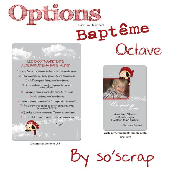 options baptême chrislaine