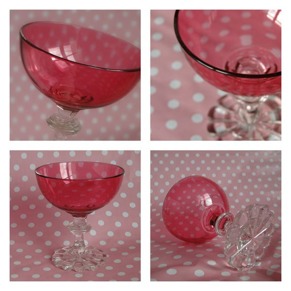 coupe cristal rose
