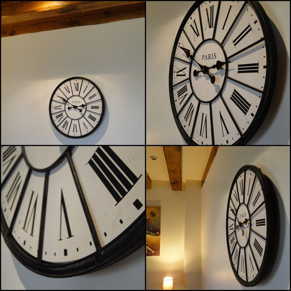 132 horloge design pour salon horloge murale m canisme. Black Bedroom Furniture Sets. Home Design Ideas