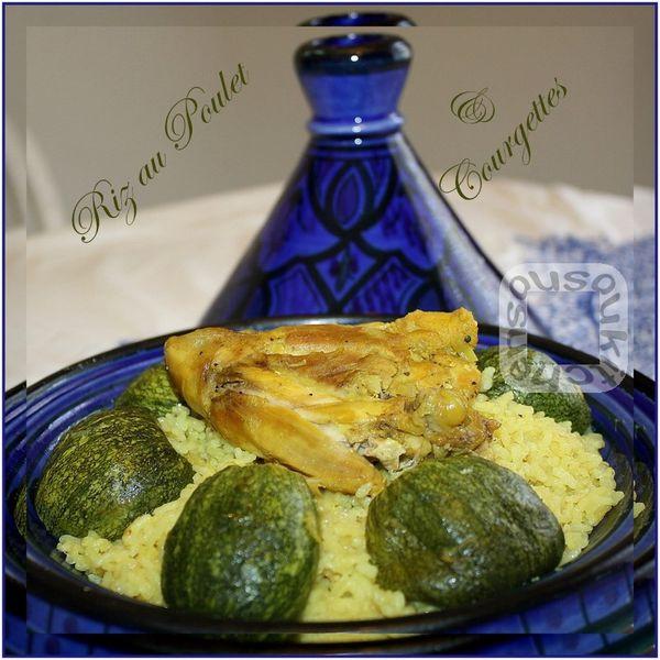 Riz au Poulet et Courgettes Rondes - Cuisine Marocaine