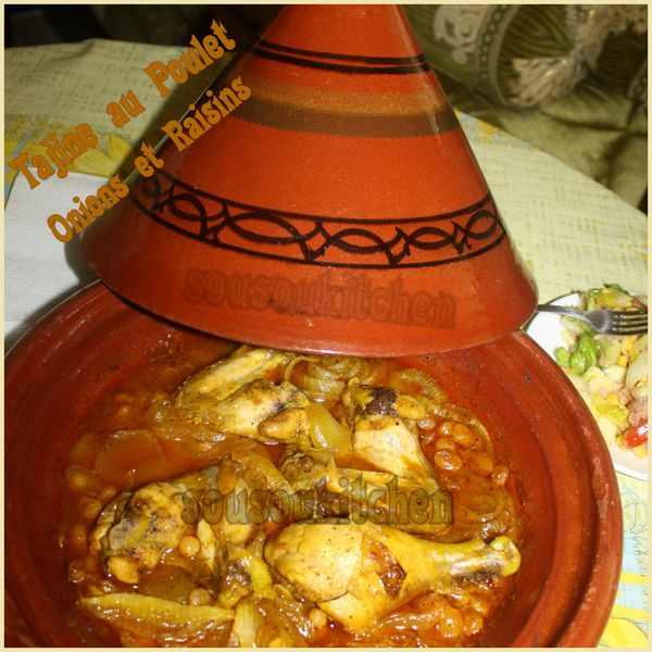 Tajine poulet oignons et raisins de Hamid pic