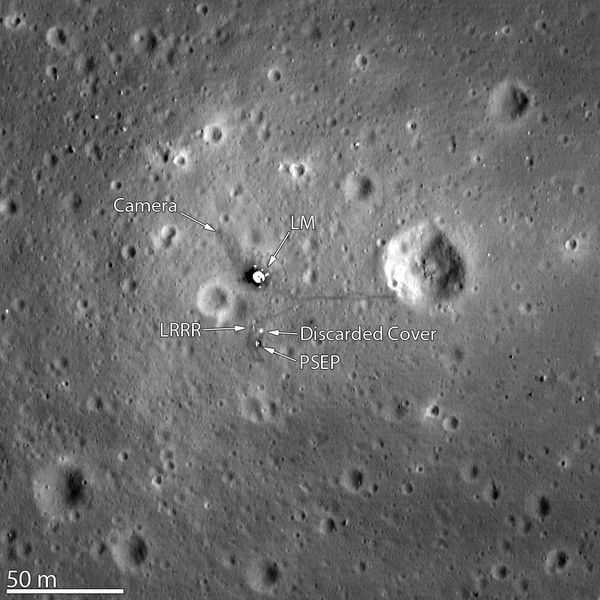 LRO - Lune - site Apollo 11