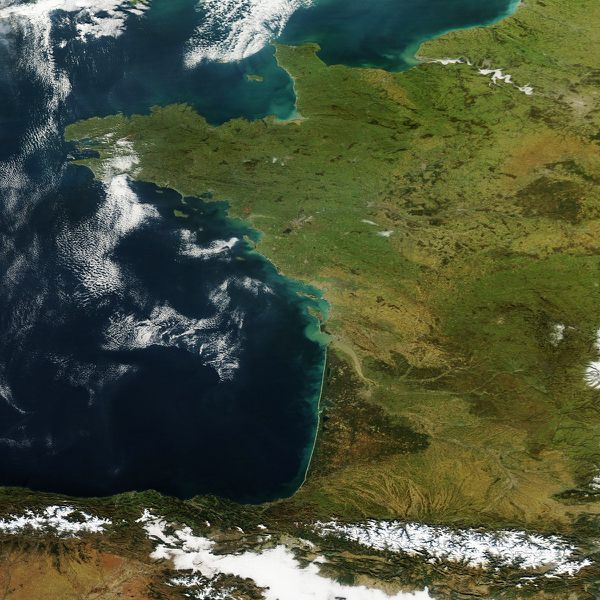 Aqua - MODIS - Anticyclone France - 10-12-2013