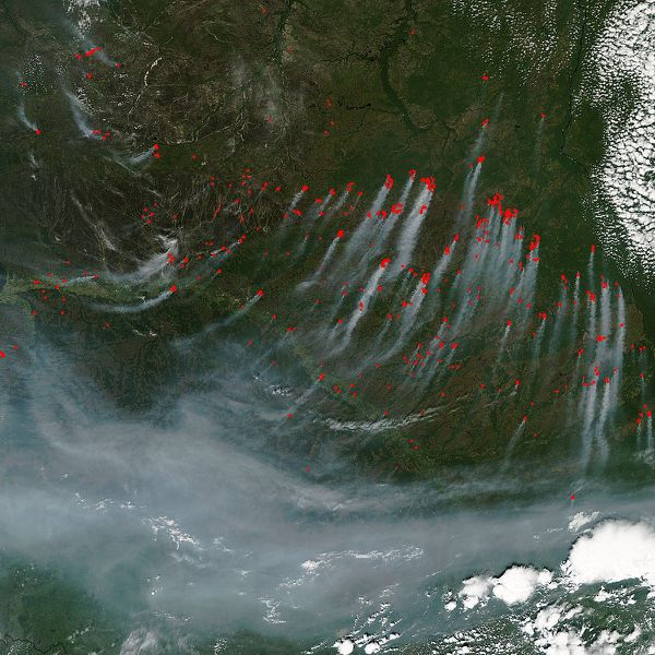 Aqua - MODIS - Russie -Sibérie - Incendies - 19-06-2012 -
