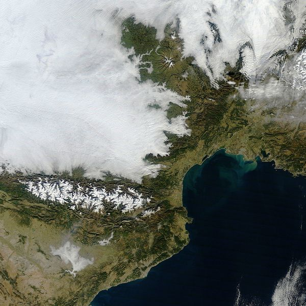 Terra - MODIS - Soleil - Grisaille - Anticyclone - 06-01-20