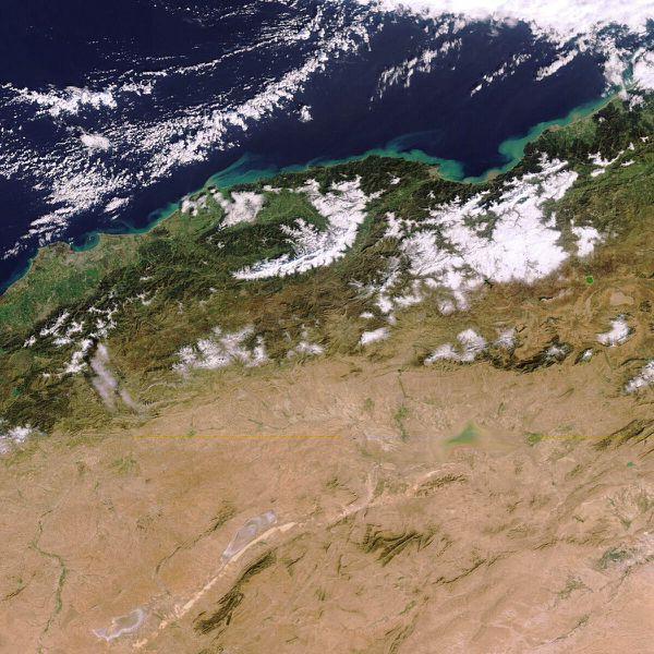 Envisat - MERIS - Neige Algérie - 01-02-2012 - 10h17 - FR
