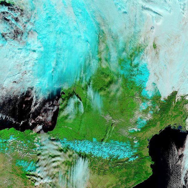 Terra - MODIS - France - 30-01-2012 - 721