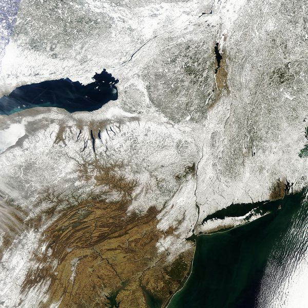 Terra - MODIS - Neige - USA - New York City -09-03-2013