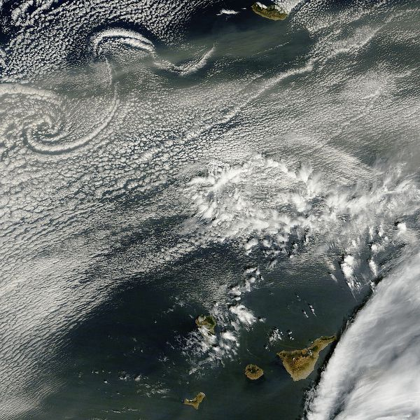 Terra - MODIS - Canaries - Atlantique - 17-03-2011