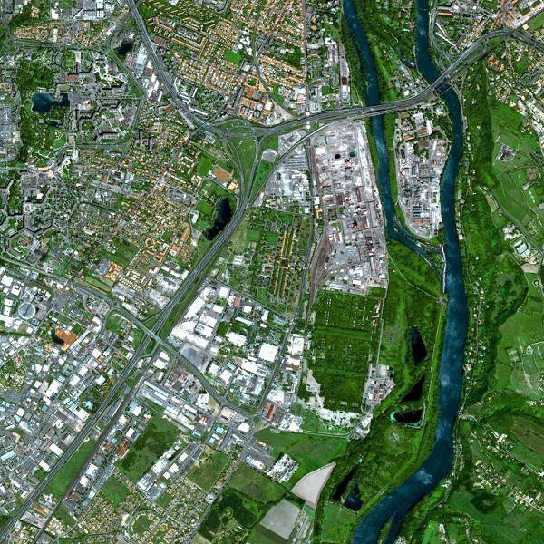Satellite Spot 5 - Toulouse - AZF Grande paroisse - 2002 - Extrait