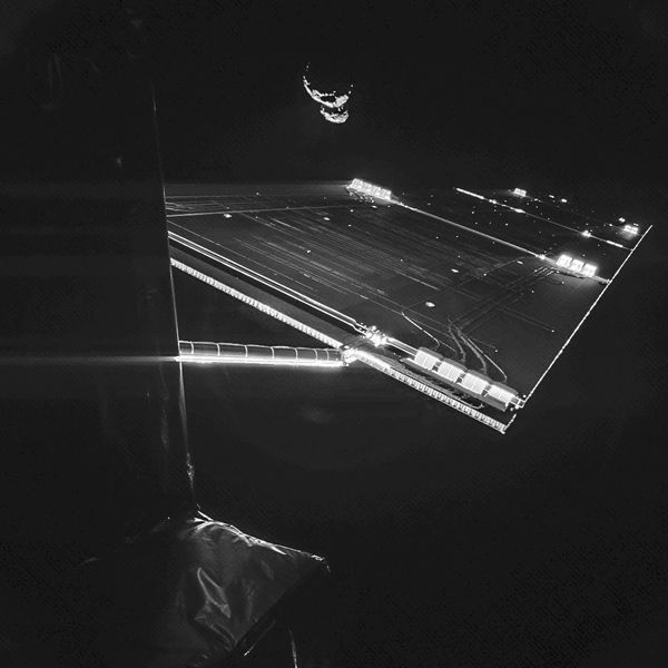 Rosetta - Phila - Comet 67P - Selfie - 07-09-2014