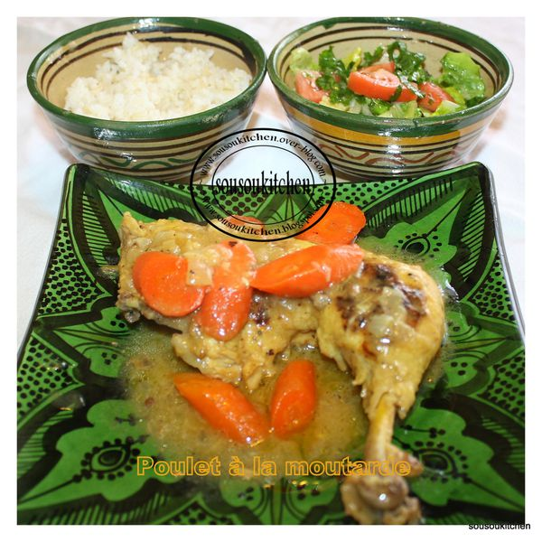 sousoukitchen chicken with mustard sauce poulet la. Black Bedroom Furniture Sets. Home Design Ideas