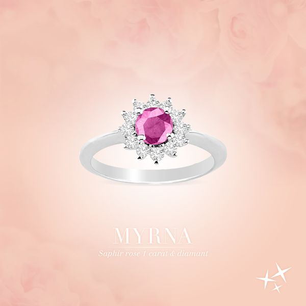 Edendiam Bague saphir rose