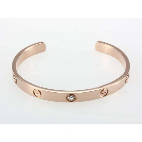Cartier Love Rose Gold Bracelet in Open Circle with Screws