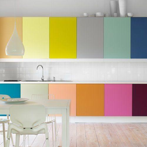 Oser les meubles de cuisine color s a part a for Articles de cuisine
