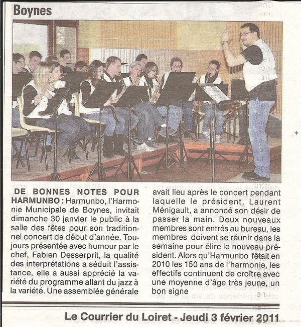 Concert Nouvel An Courrier