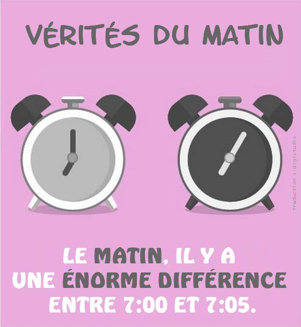VERITE MATIN DIFFERENCE 7H00