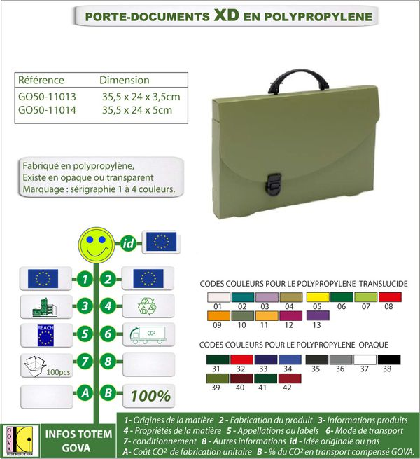Porte document XD en polypro ref GO50 11013